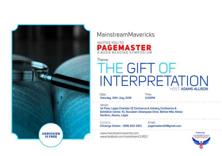 Pagemaster - The Gift Of Interpretation